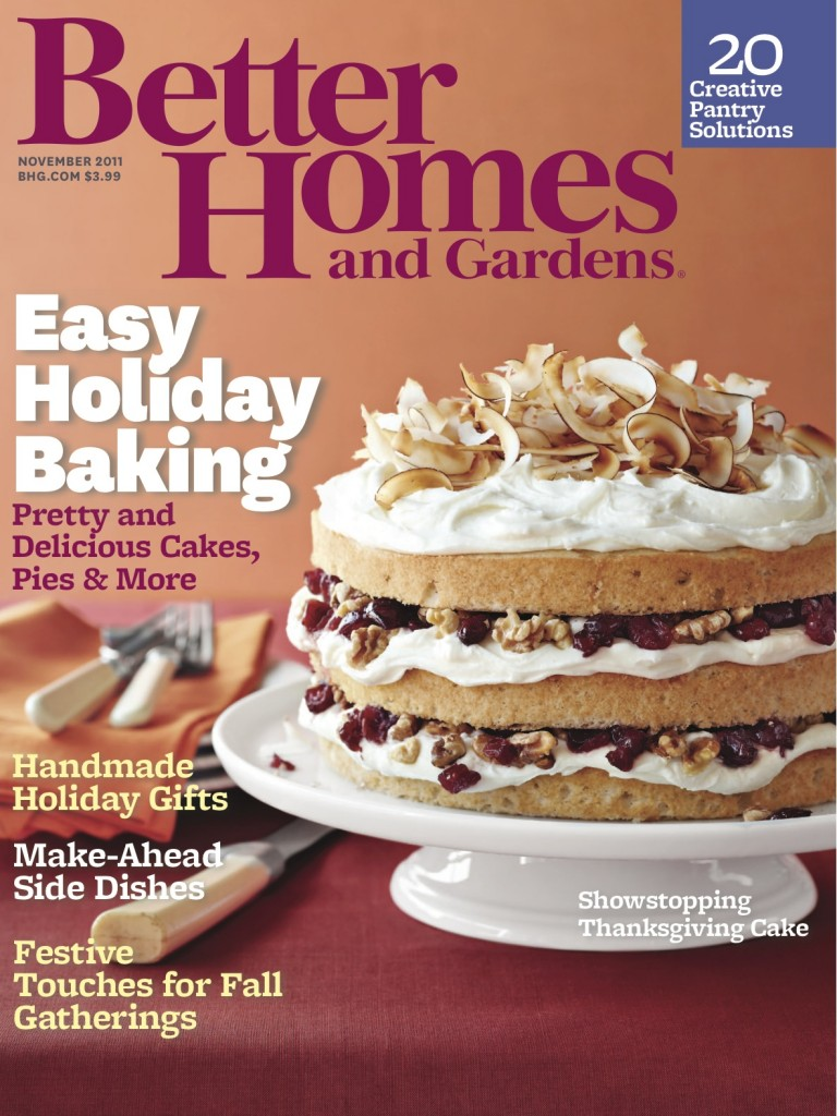 Better homes gardens november 2011 issue with kim truman Better homes and gardens gardener