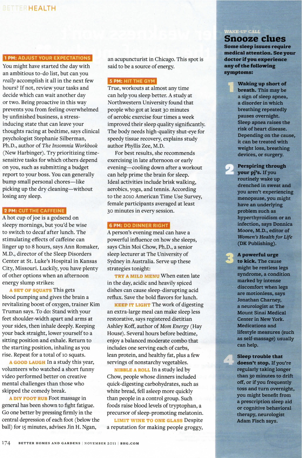 Featured page of Kim Truman in November 2011 Issue of Better Homes & Gardens